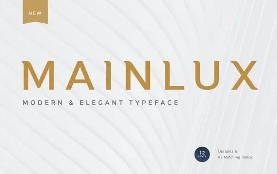 Mainlux Sans Serif Typeface