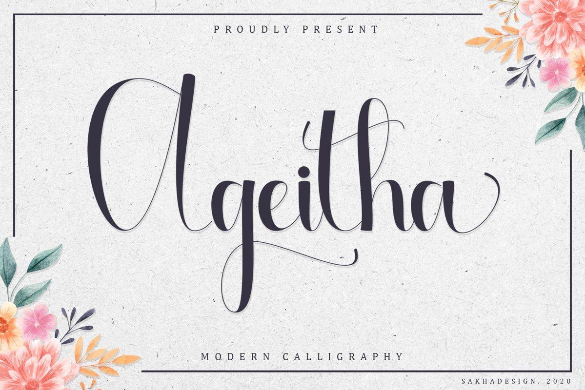 Ageitha-Modern-Calligraphy-Font