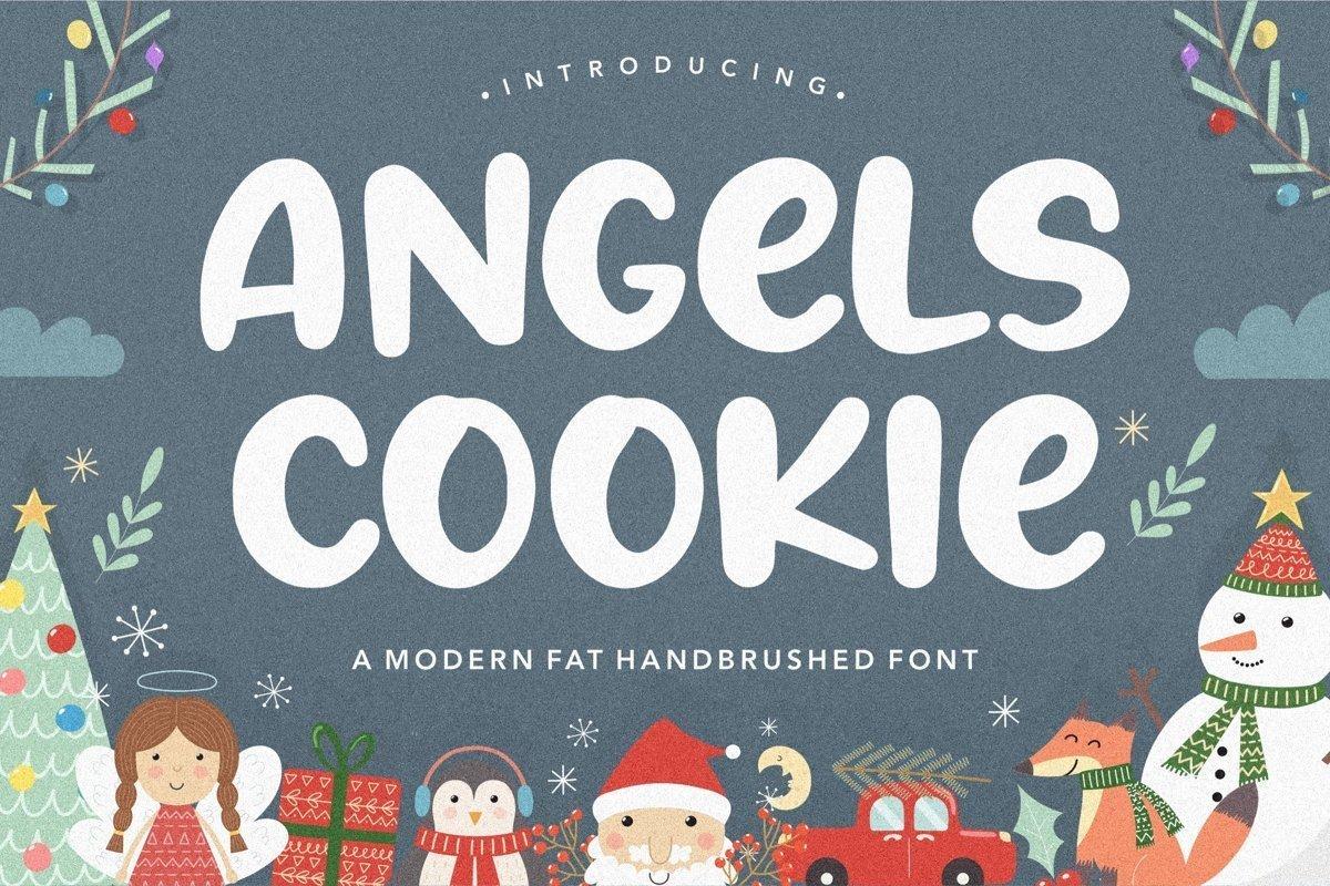 Angels-Cookie-Bold-Script-Font