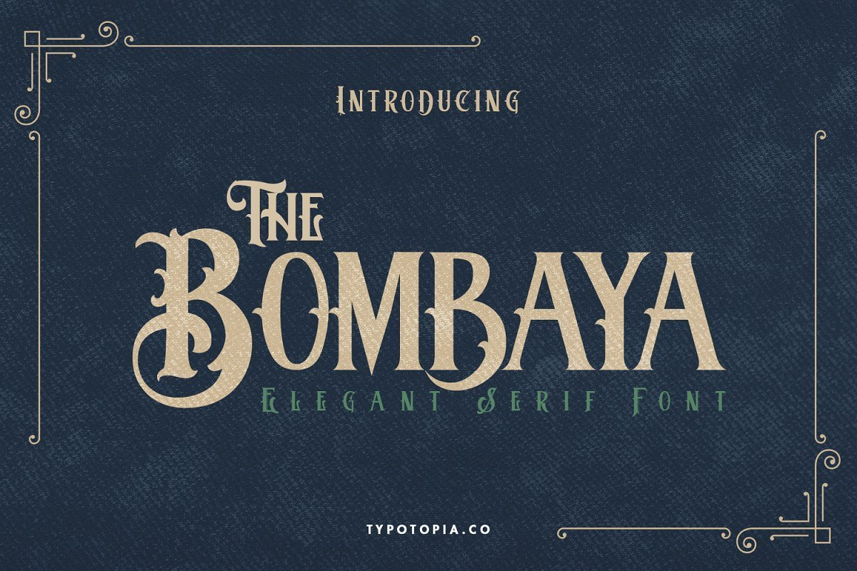 Bombaya-Display-Serif-Font