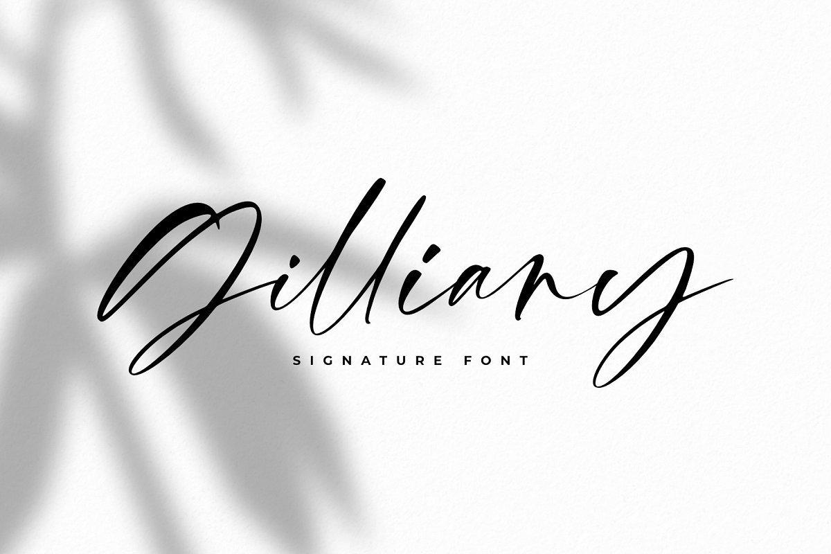 Gilliany-Signature-Script-Font