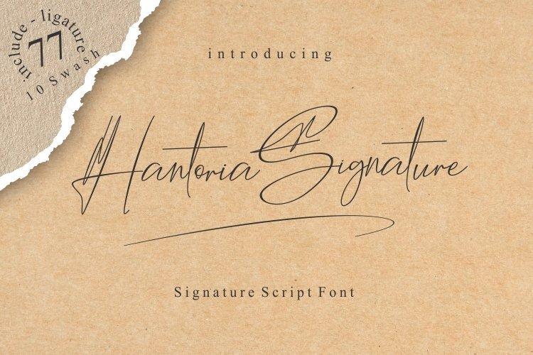 Hantoria-Signature-Script-Font