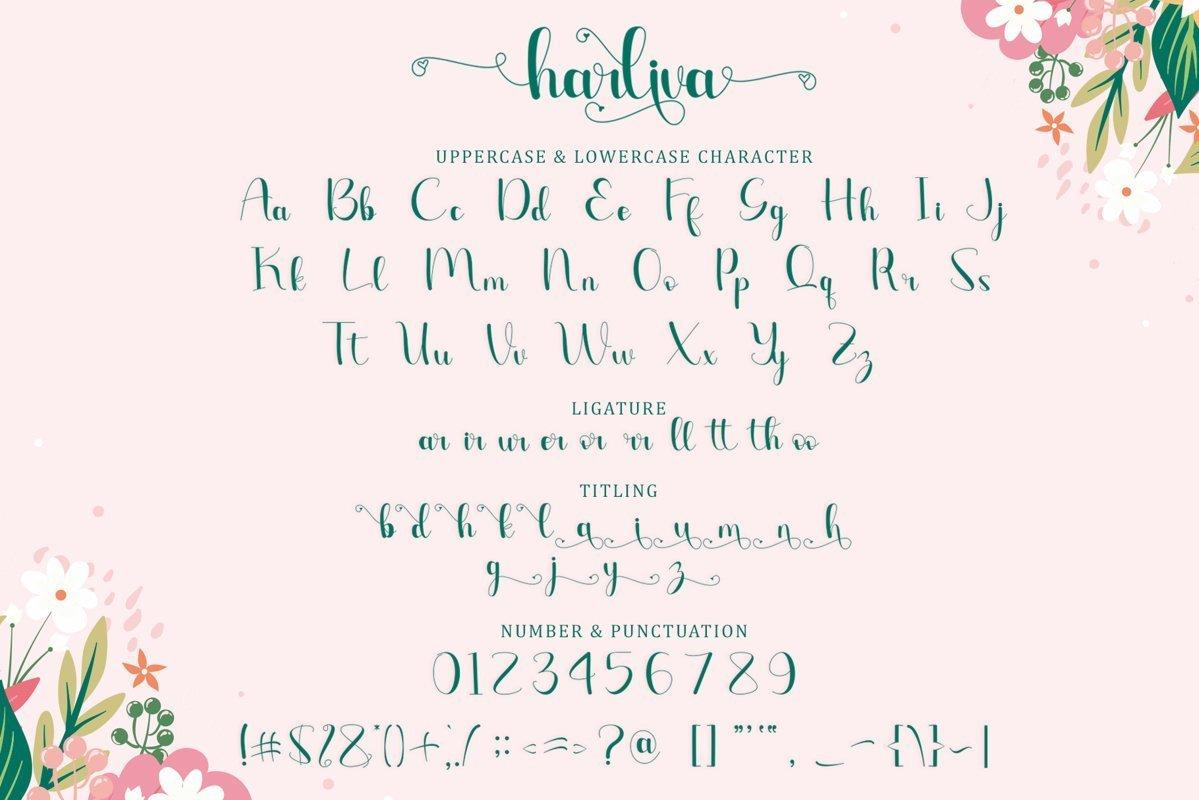 Harliva-Calligraphy-Script-Font-2