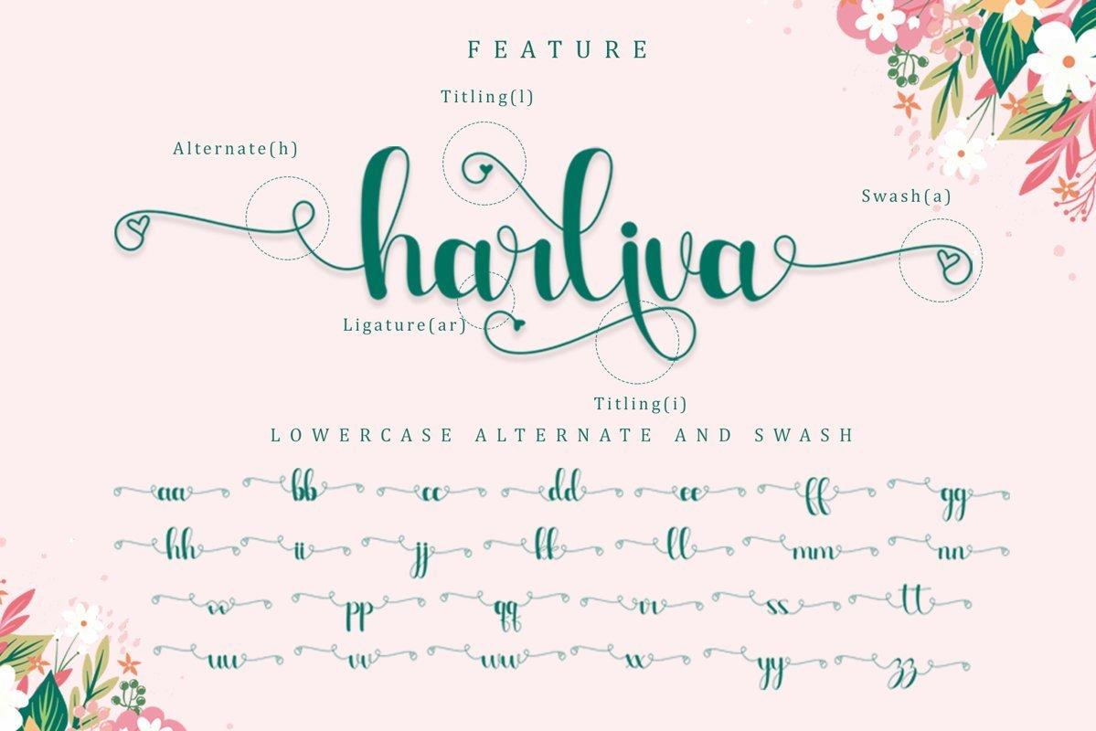Harliva-Calligraphy-Script-Font-3