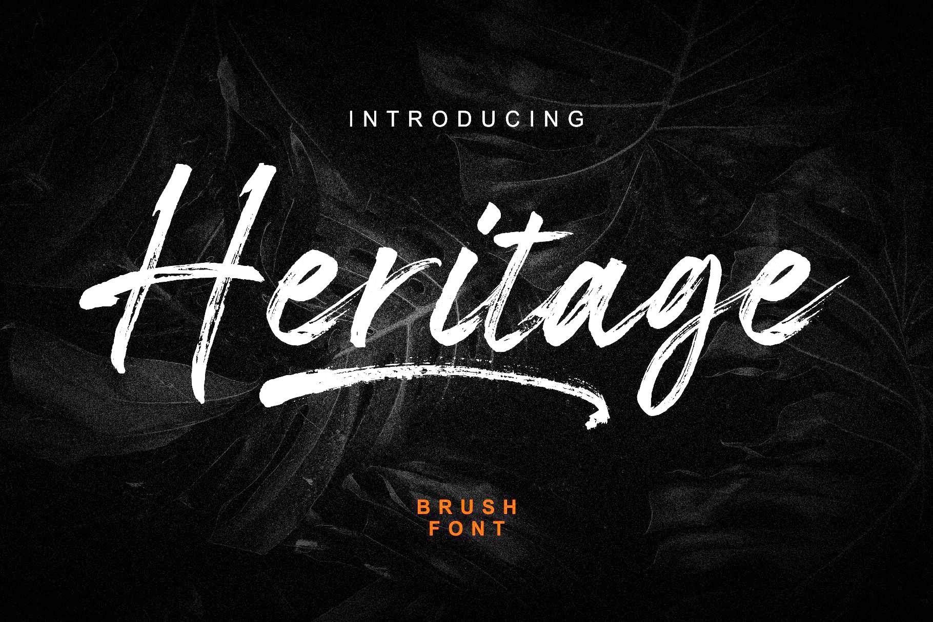 Heritage-Brush-Script-Font