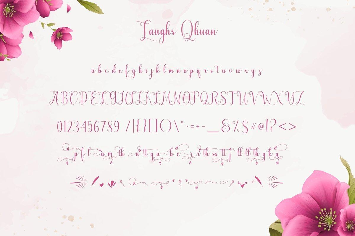 Laughs-Qhuan-Calligraphy-Script-Font-3