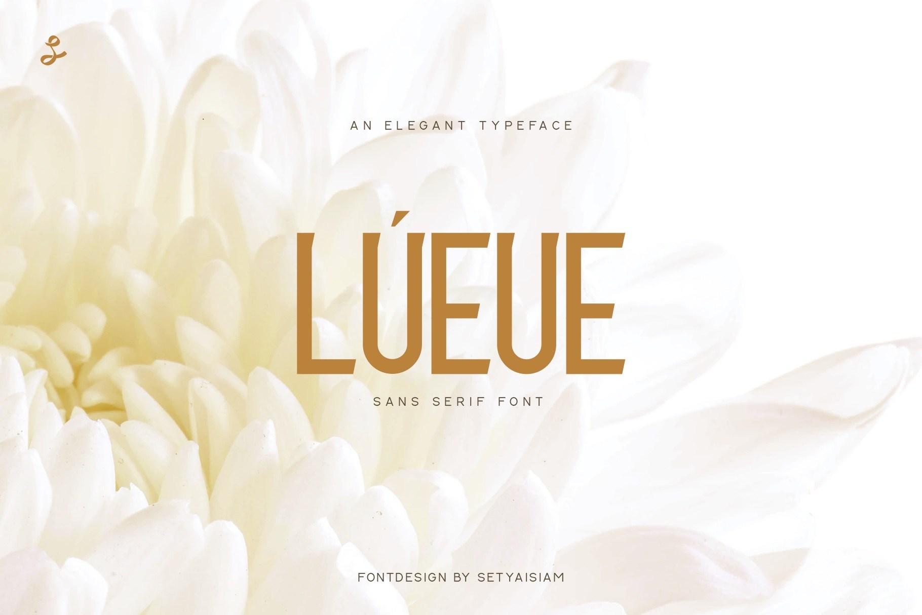 Lueue-Sans-Serif-Font