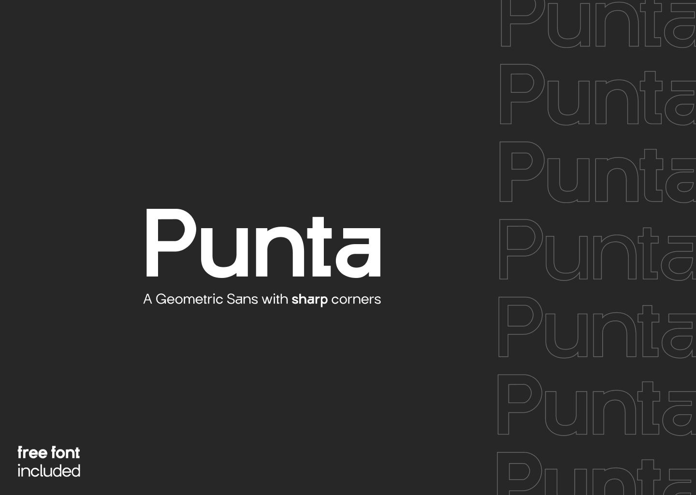 Punta-Geometric-Sans-Serif-Font