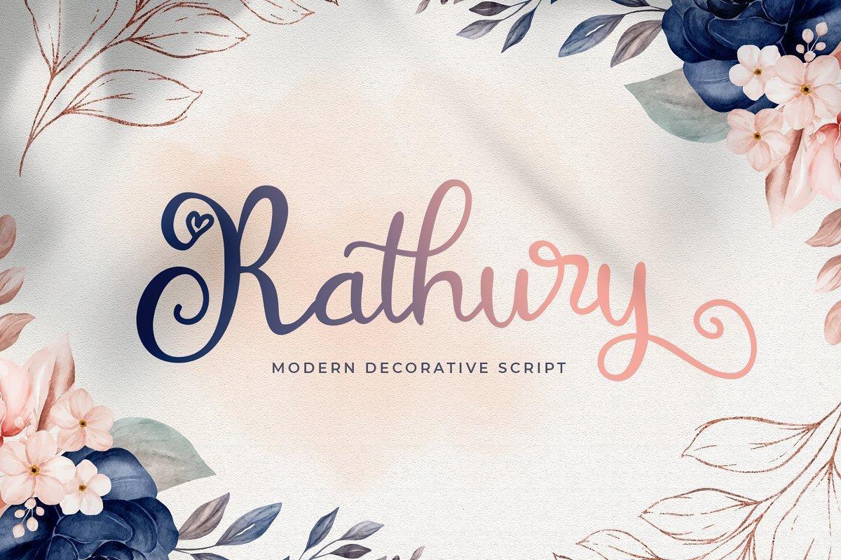Rathury-Decorative-Script-Font
