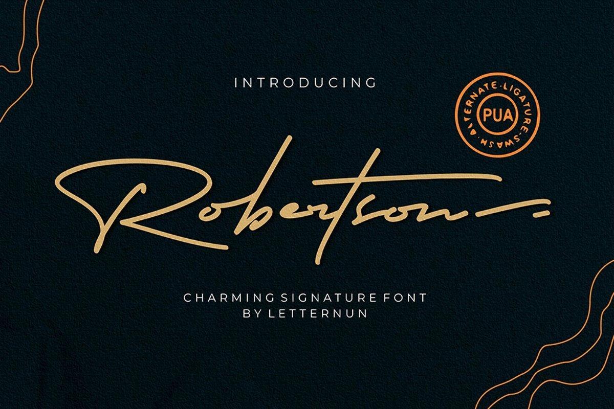 Robertson-Signature-Script-Font