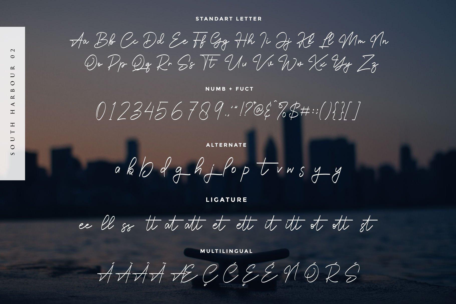 South-Harbour-Monoline-Handwritten-Font-3