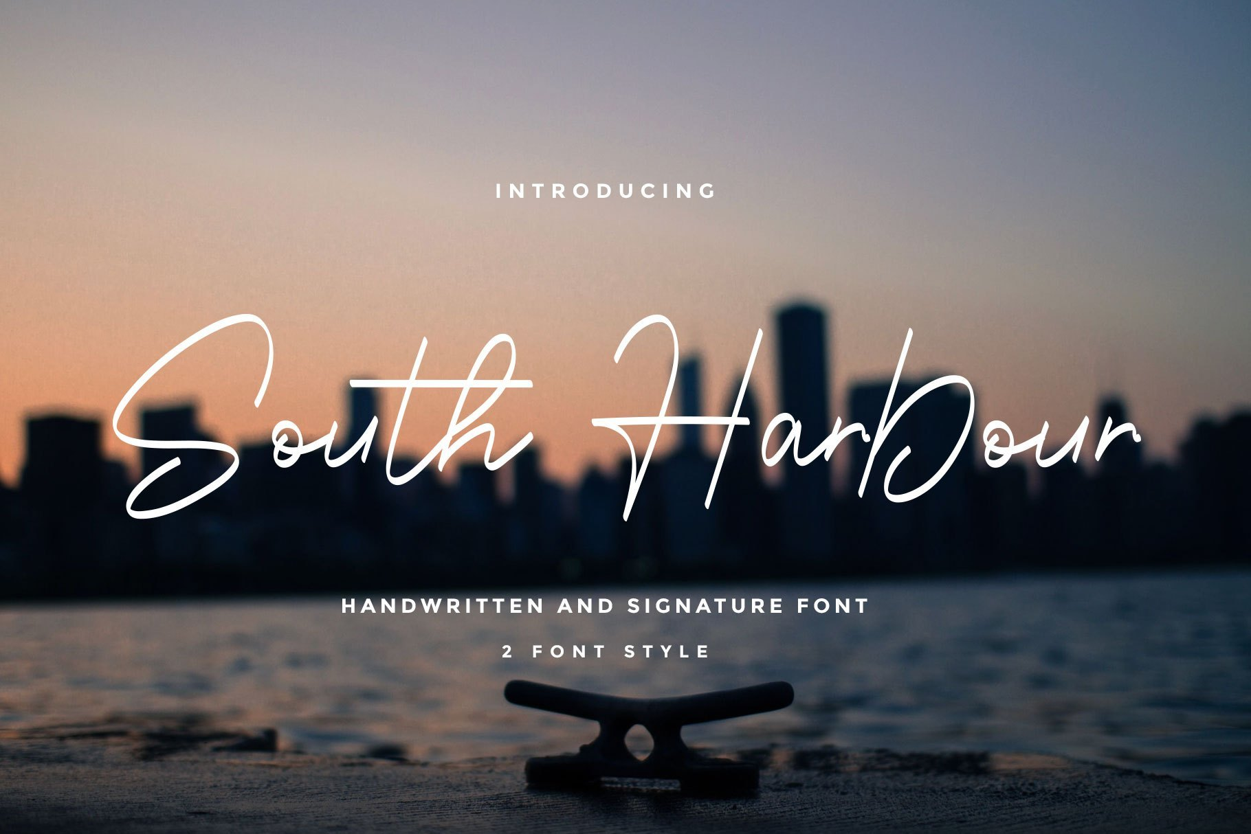 South-Harbour-Monoline-Handwritten-Font